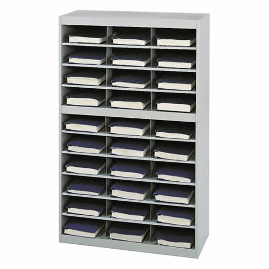 Safco 9274GR E-Z Stor Steel Project Organizer with 30 Compartments - Gray