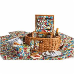 Picnic Plus Waterloo 2 Person Deluxe Picnic Basket - Floribunda