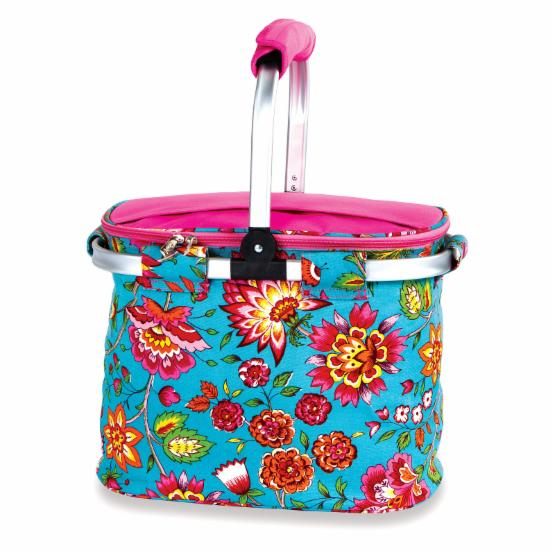 Picnic Plus Shelby Collapsible Cooler Market Tote - Madeline Turquoise