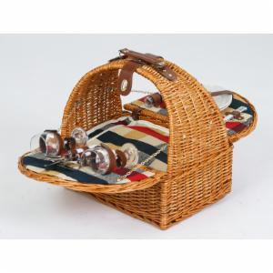 Picnic Plus Athertyn 2 Person Picnic Basket - Plaid Lining