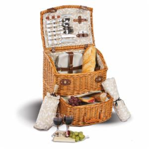Picnic Plus Exeter 4 Person Picnic Basket - Vine Lining