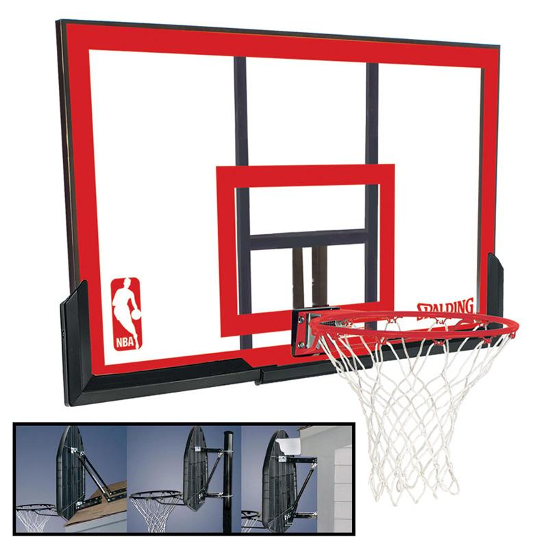 Spalding 48-Inch Polycarbonate Backboard Combo with Mounting Bracket - SPN148