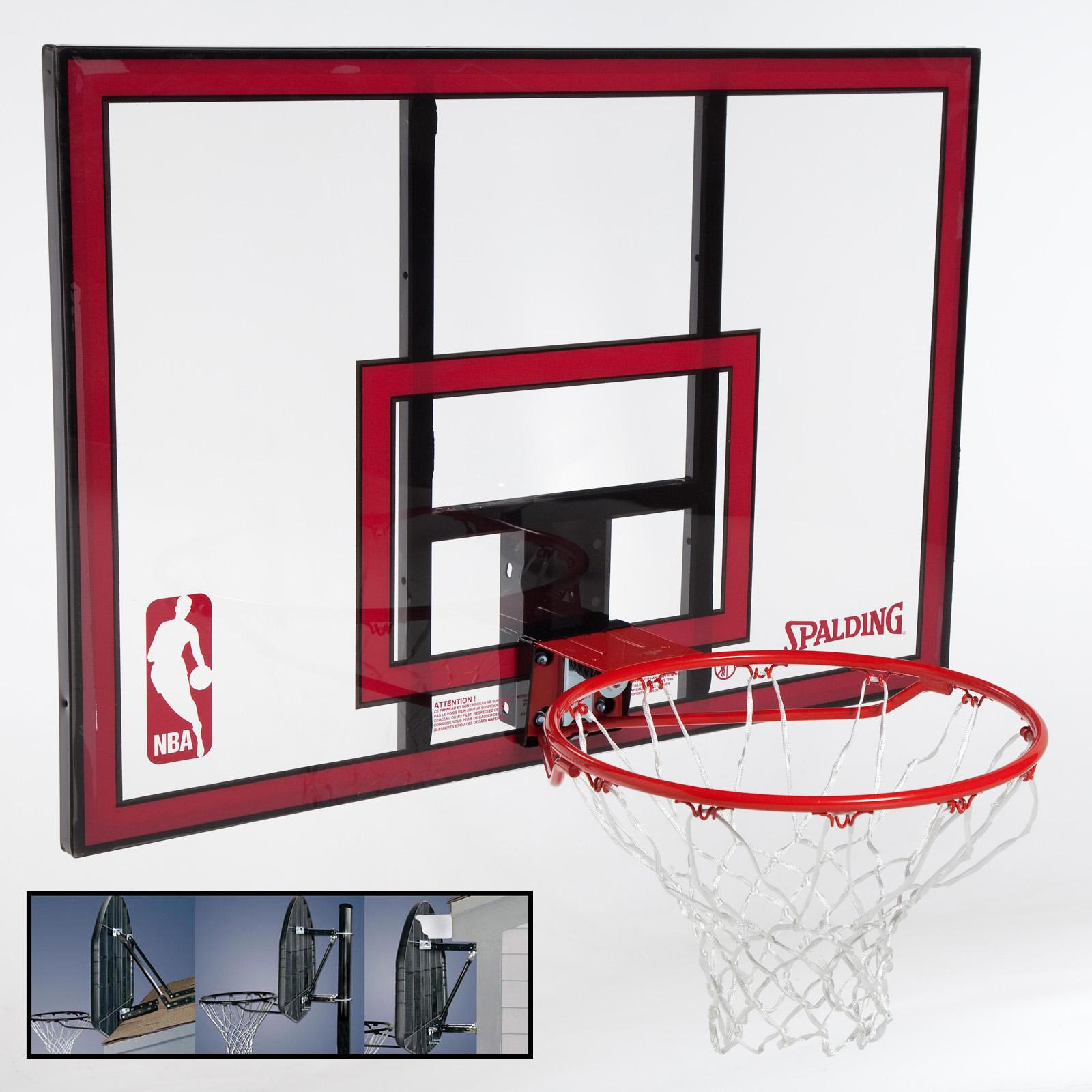 Spalding 44-Inch Polycarbonate Backboard Combo with Mounting Bracket - SPN149-1