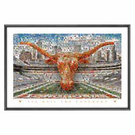 Sports Coverage Texas University Longhorns on the Field Mosaic