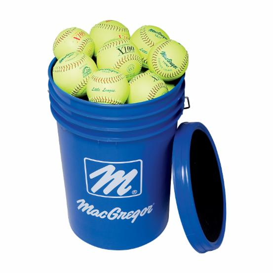 MacGregor Yellow 11 in. Softballs Bucket - 2 Dozen