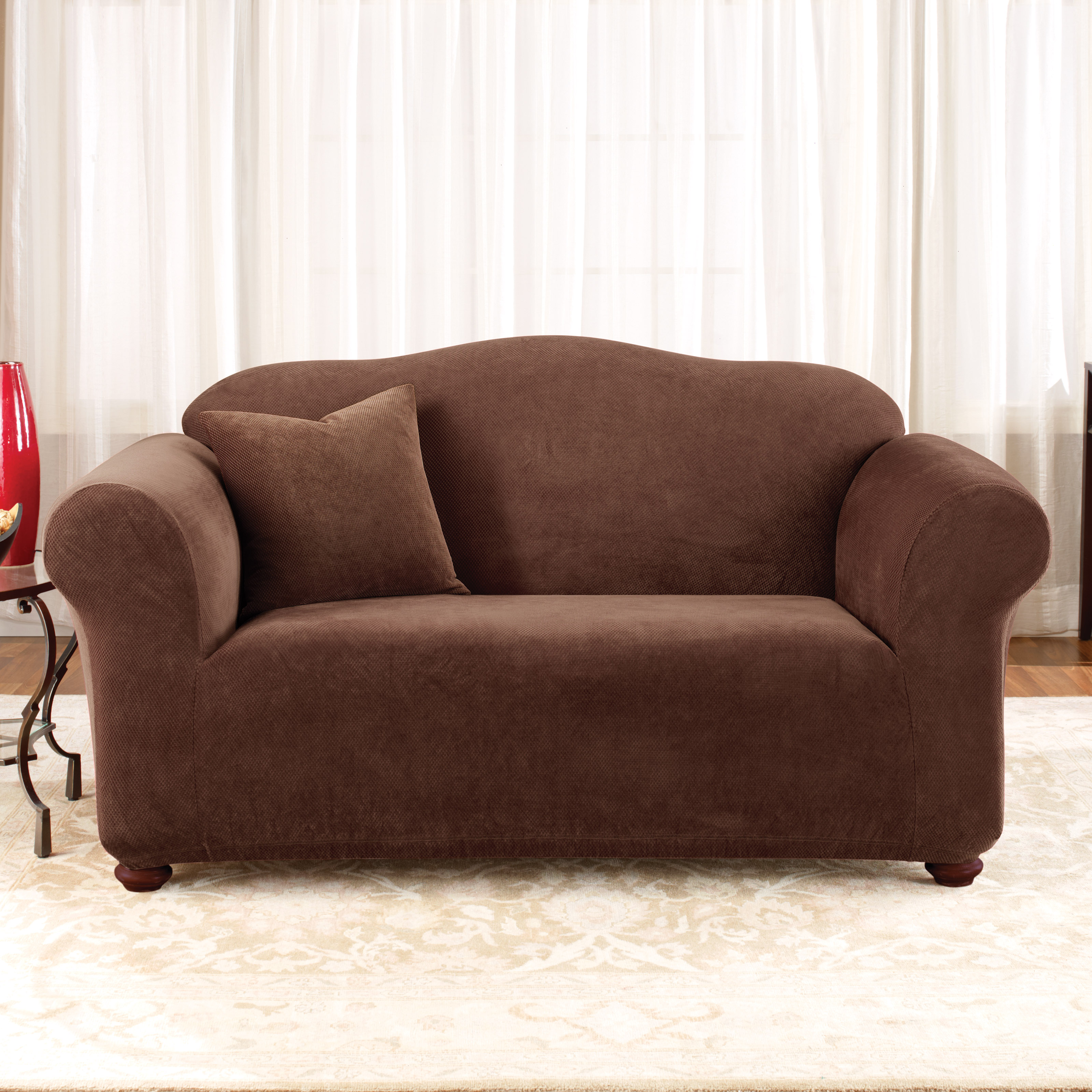 Madison Industries Solid Jersey Sofa Cover