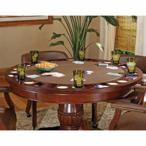 Steve Silver Tournament Dining Game Table - Cherry