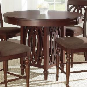 Steve Silver Dolly Counter Height Dining Table - Medium Brown Cherry