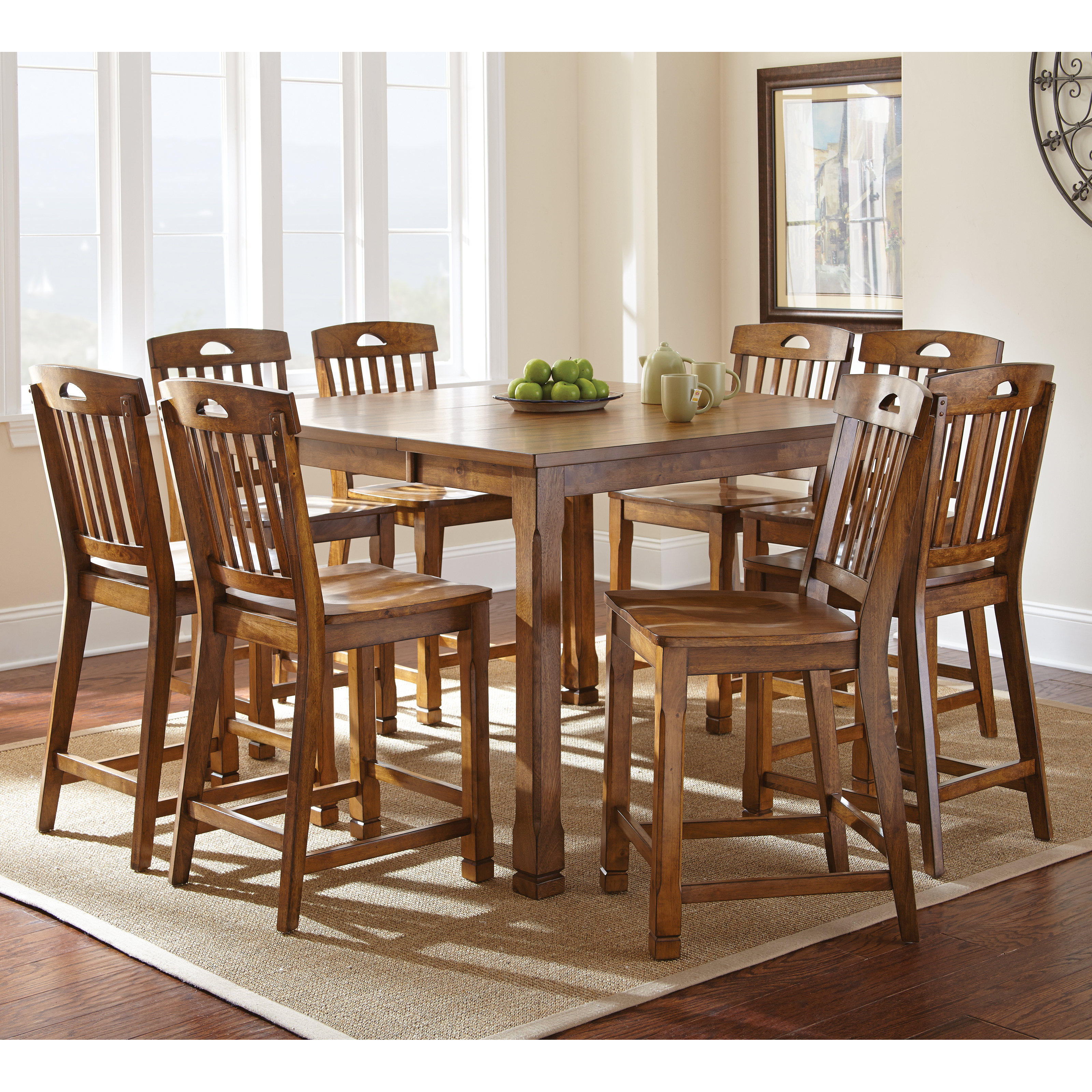 9 piece counter height dining room sets steve silver menton 9 counter height dining table 9159