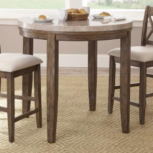Steve Silver Franco Marble Top Round Counter Height Dining Table