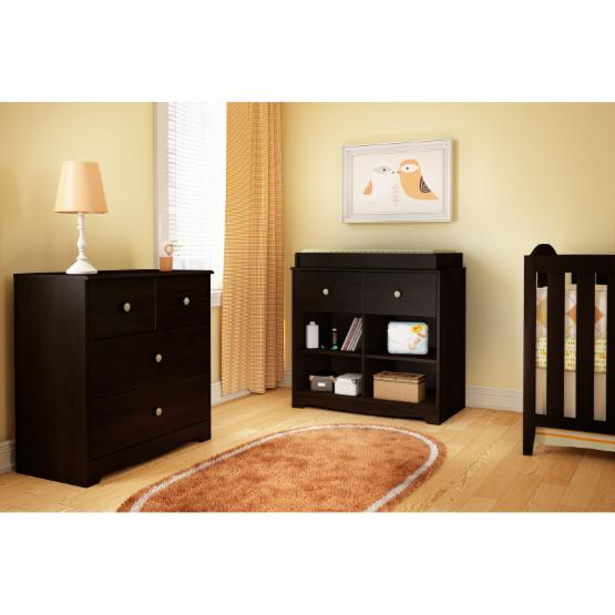 South Shore Little Teddy Changing Table - Chocolate