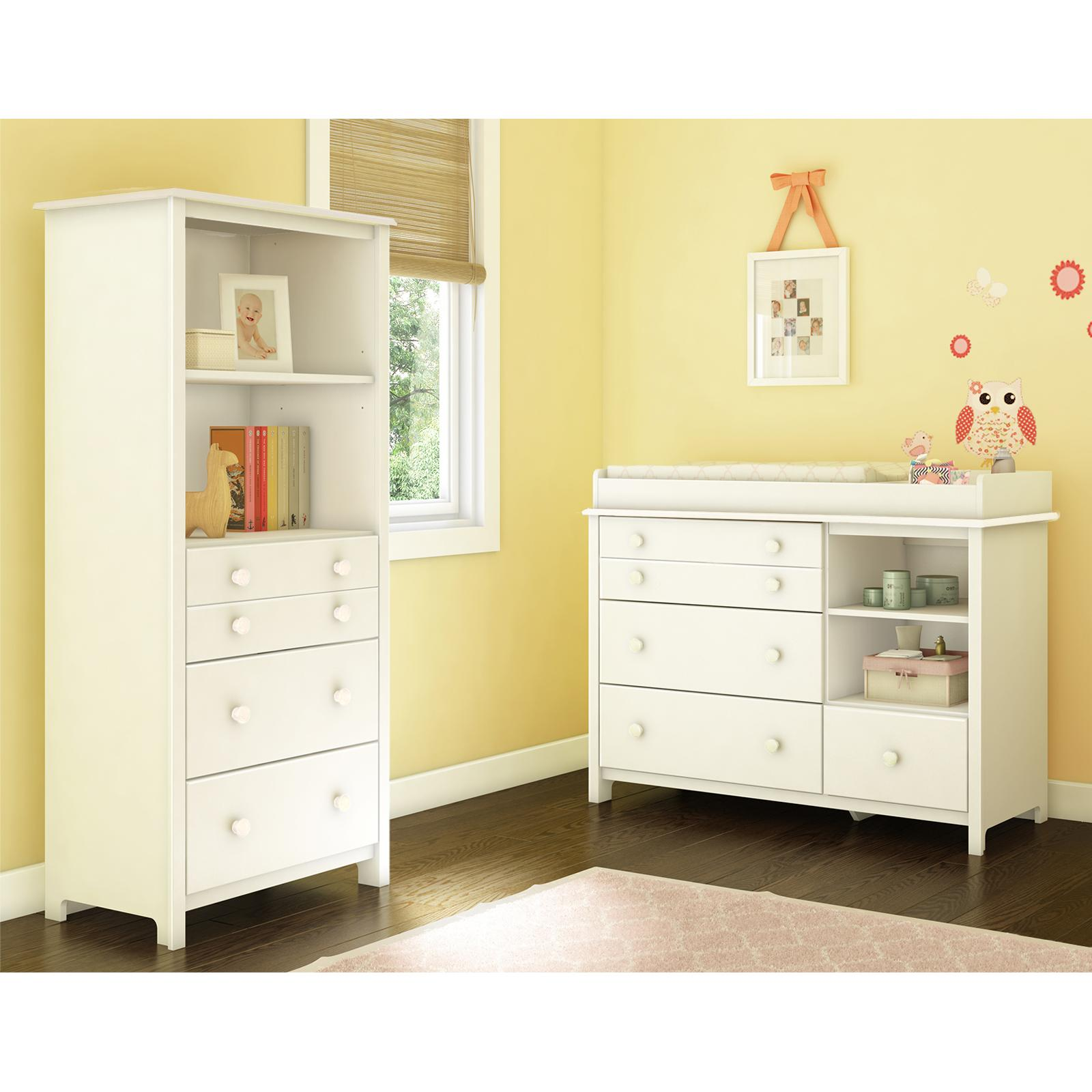 South Shore Little Smileys Changing Table with Shelving U...