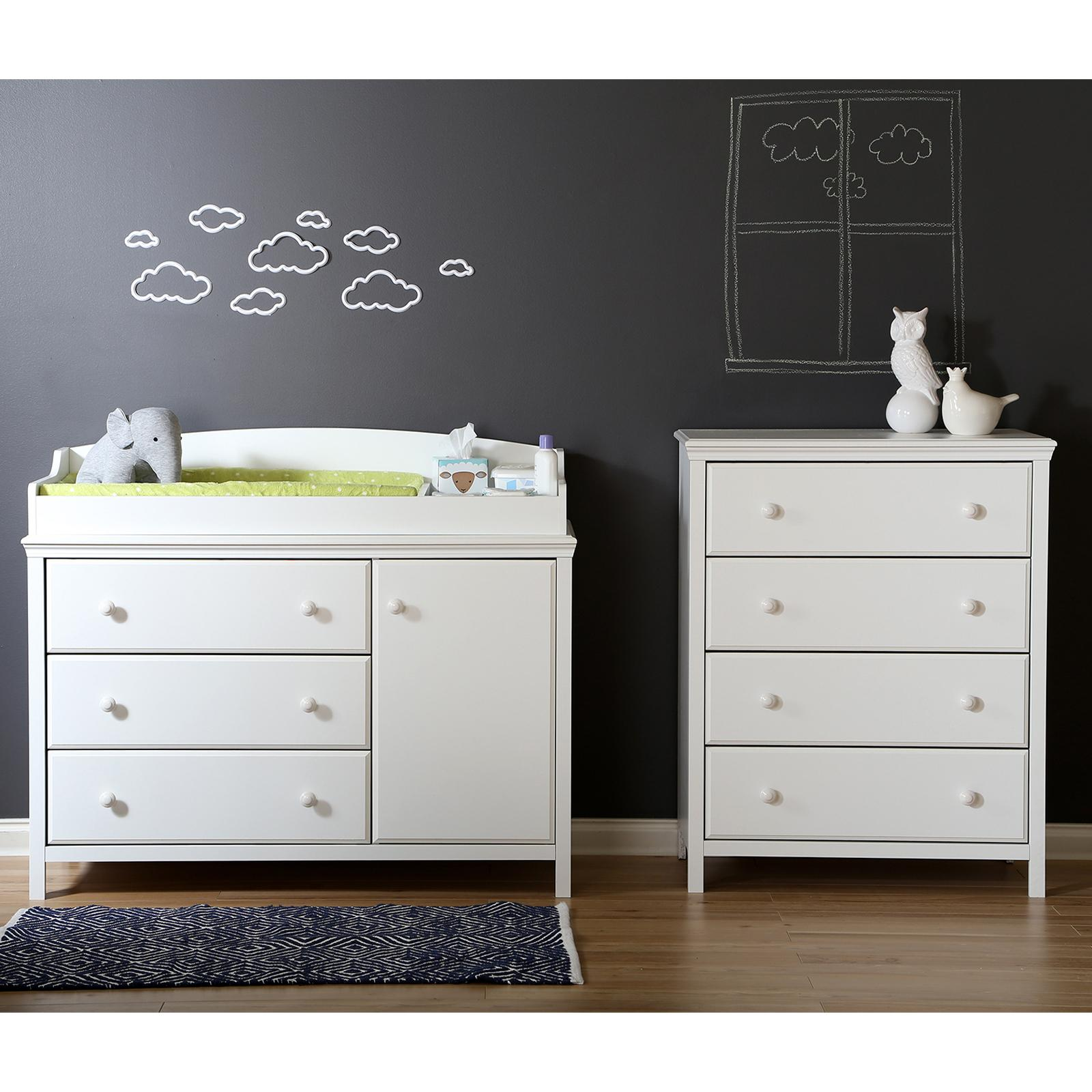 South Shore Cotton Candy Changing Table and 4 Drawer Ches...