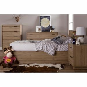 South Shore Fynn Twin Bookcase Storage Bed