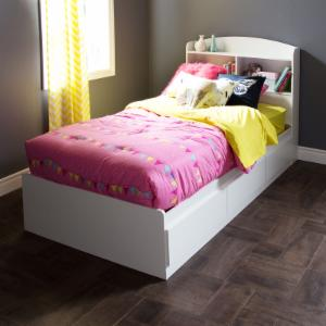 South Shore Logik Twin Bookcase Storage Bed