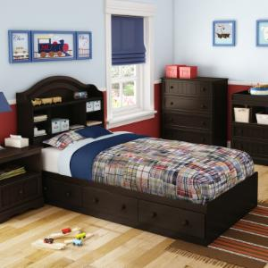 South Shore Savannah Twin Bookcase Storage Bed