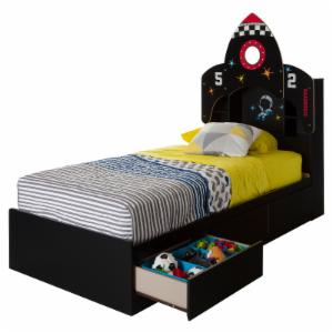 South Shore Vito Space Rocket Twin Bookcase Storage Bed