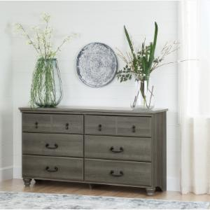 South S Le 6 Drawer Double Dresser