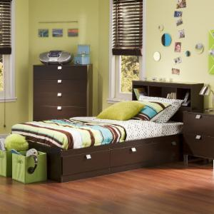 Cakao Bookcase Storage Bed by South Shore