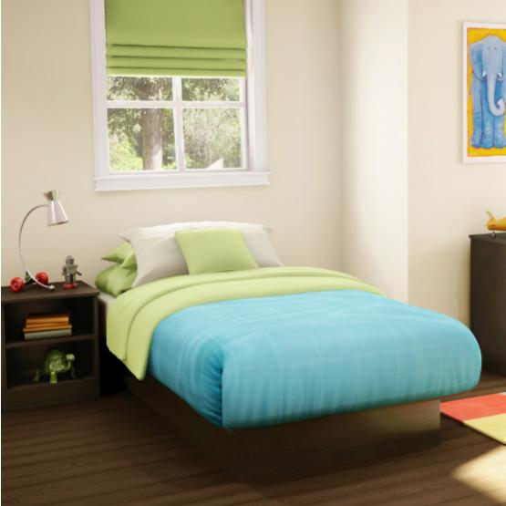 South Shore Step One Twin Platform Bed - Chocolate