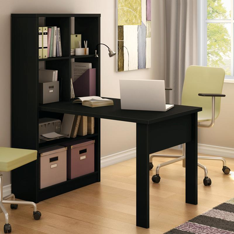 South Shore Annexe Collection Work Table with Storage Uni...