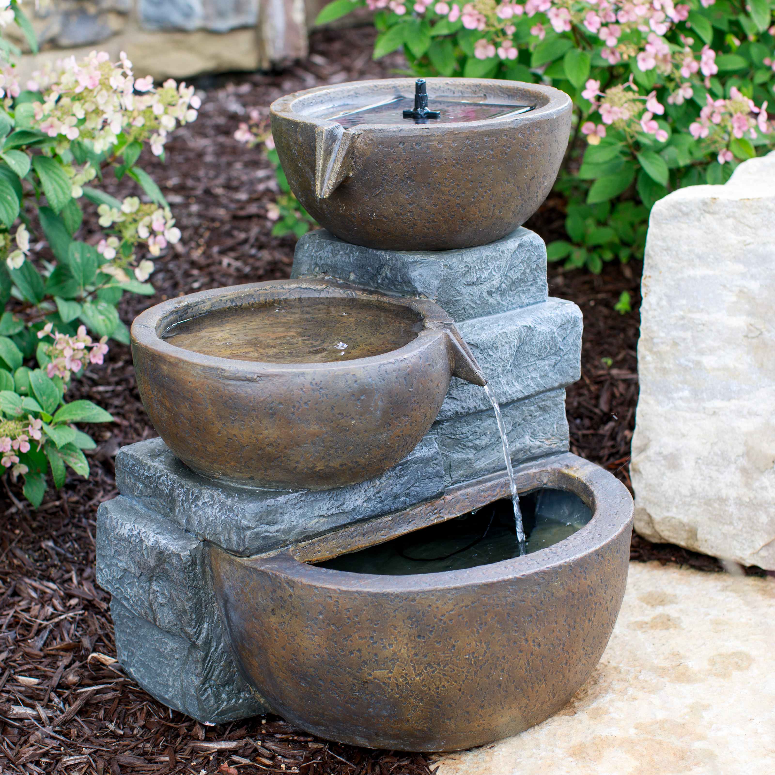 Belham Living Whitfield Tiered Solar Fountain By Smart Solar