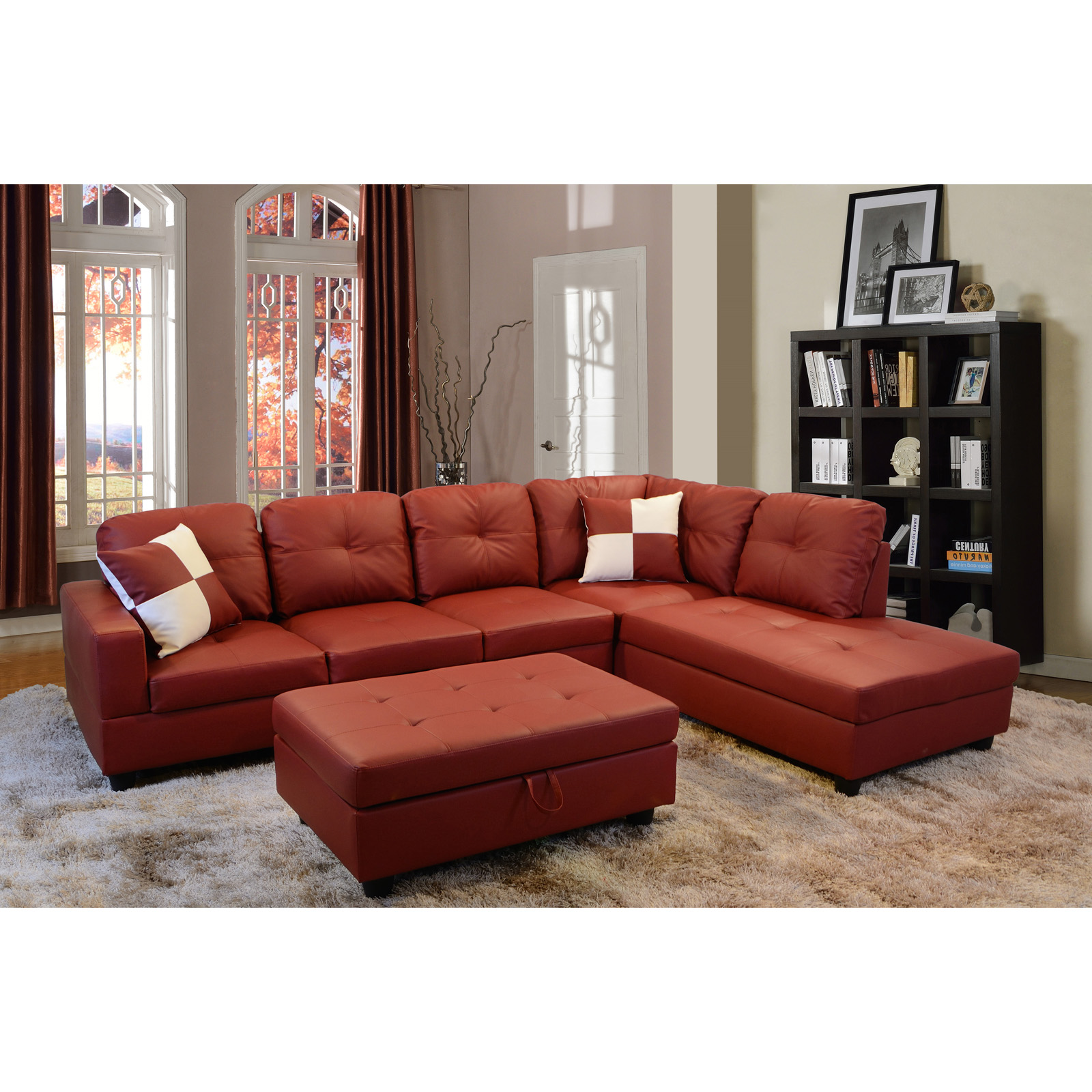 Faux Leather Sectional Sofas Hayneedle
