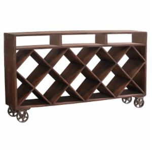 Stein World Ruthe Wine Rack Display Table on Wheels
