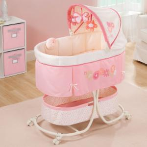 Summer Infant Soothe & Sleep Bassinet With Motion - Lila/Pink