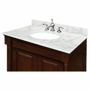 Sagehill Designs 25W x 22D in. Carrara Marble Vanity Top with Undermount Sink