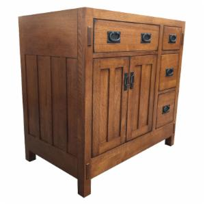 Sagehill Designs AC3621DN American Craftsman 36 in. Single Bathroom Vanity Base