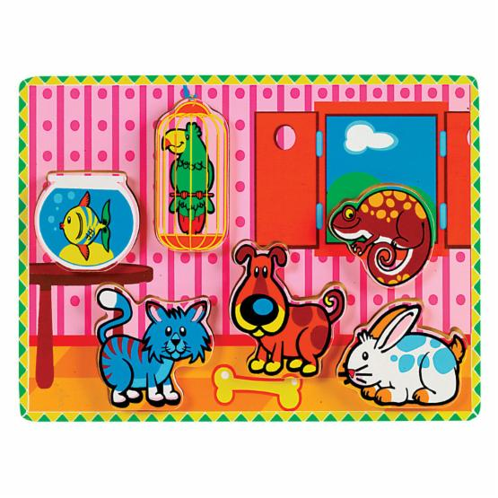 Small World Toys Chunky Puzzle Set - Animals