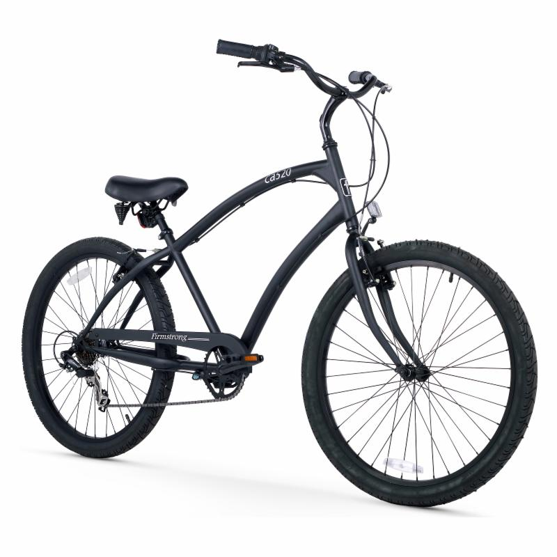 Firmstrong Mens CA-520 26 in. 7 Speed Beach Cruiser Bicyc...