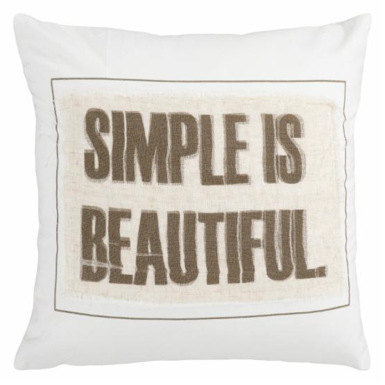 Surya Simple Decorative Pillow - Ivory