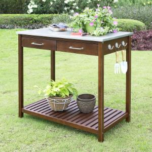 Belham Living Winfield Potting Table - 39W x 22D x 36H in.