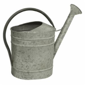 Three Hands Galvanized Metal Single Handle Watering Can