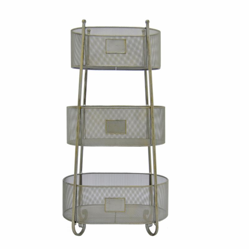 Three Hands 3 Tier Metal Stacked Oval Storage Rack - 92120