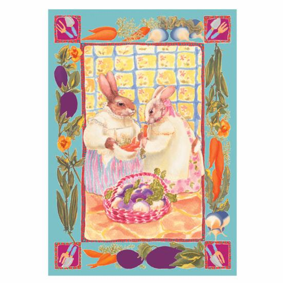 Toland 12.5 x 18 in. Bunny Ladies Garden Flag - DO NOT USE