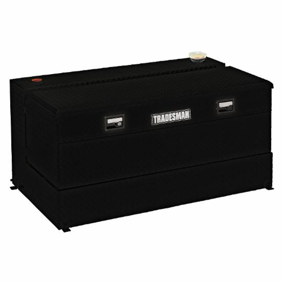 Tradesman Steel L-Shaped 48 in. Box Combo Tank - Black