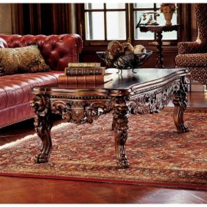 Design Toscano The Lord Raffles Grand Hall Lion Leg Coffee Table