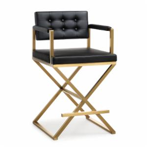 TOV Furniture Director 38.8 in. Gold Steel Counter Stool