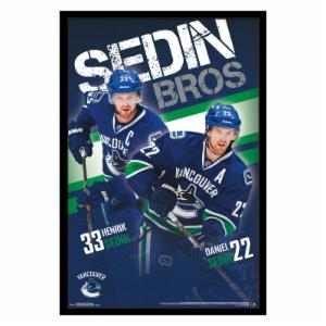 Trends International Vancouver Canucks - Sedin Brothers Wall Poster - 22W x 34H in.