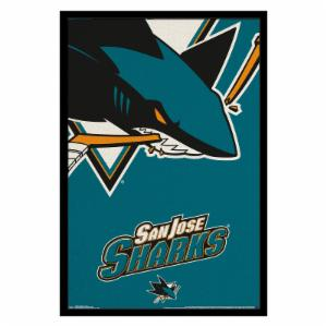 Trends International San Jose Sharks - Logo Wall Poster - 22W x 34H in.