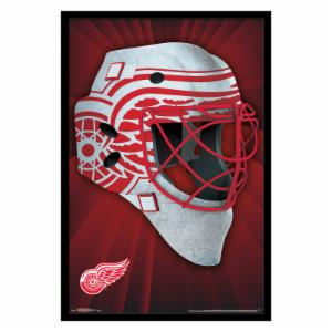 Trends International Detroit Red Wings Mask Framed Wall Poster
