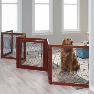 Boomer & George Ruby 6 Panel Detailed Metal Pet Gate