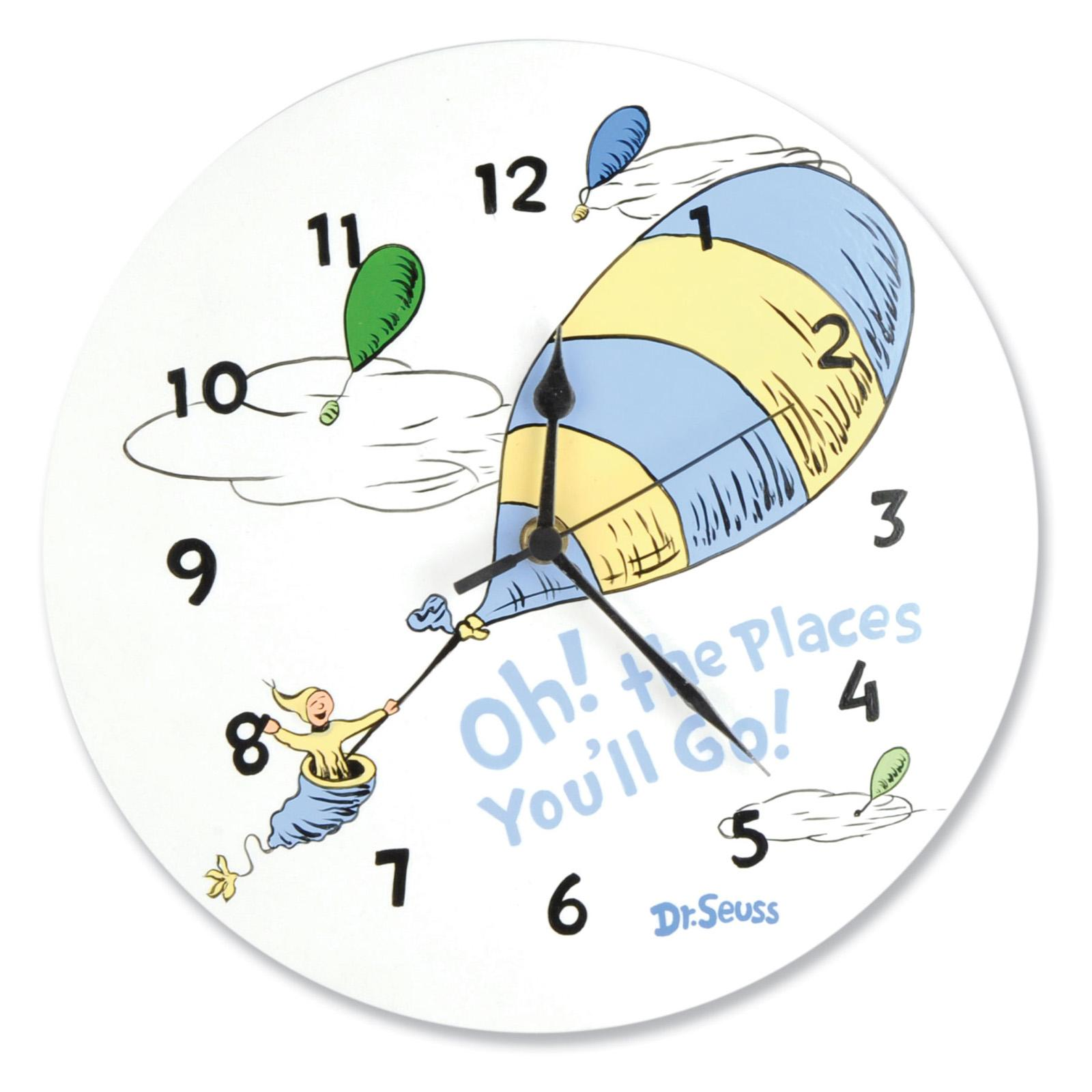 Dr. Seuss Blue OH! THE PLACES YOU''LL GO! 11-in. Wall Clock - 30377