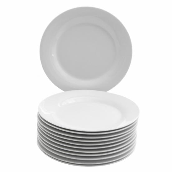 10 Strawberry Street Caterers Set Round Salad/Dessert Plate Set of 12 - 7.5 in.