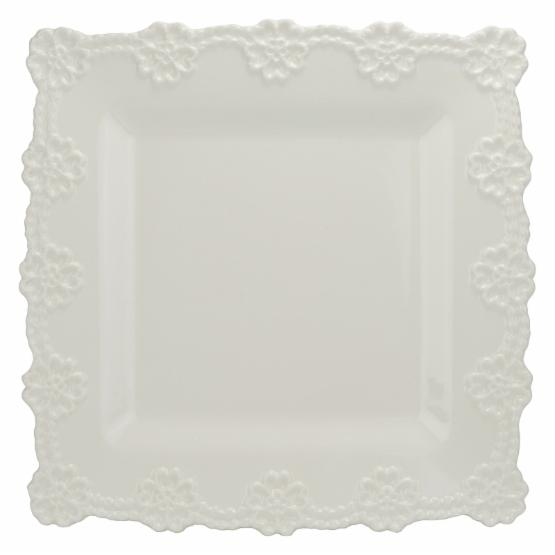 10 Strawberry Street Lace Square Platter