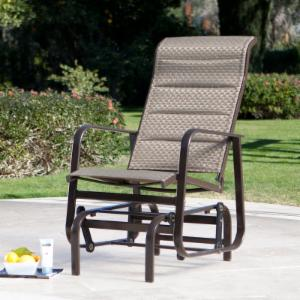 Coral Coast Del Rey Padded Sling Outdoor Glider Chair - Bronze