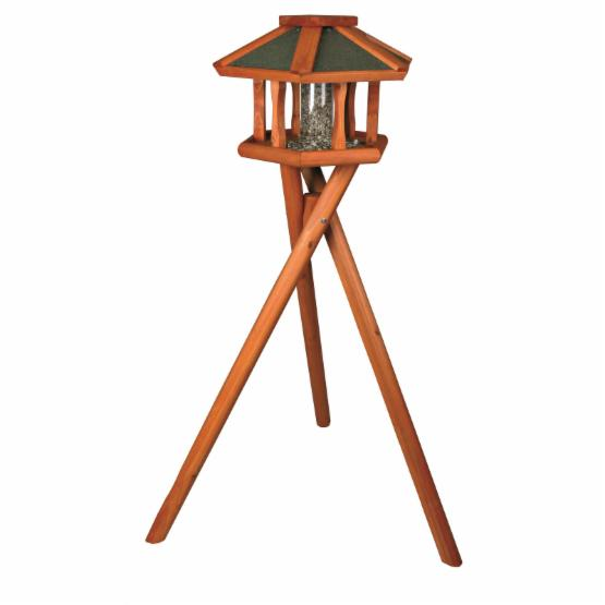TRIXIE Deluxe Wooden Bird Feeder Gazebo with Stand